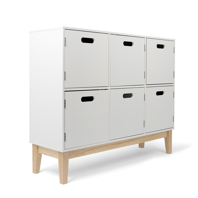kledio commode pour ranger les jeux v tements d 39 enfants tag re en bois avec 6. Black Bedroom Furniture Sets. Home Design Ideas