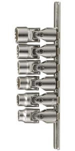 "Genius Tools 6PC 1/4"" Dr. SAE Universal Hand Socket Set (12-Point) - US-206S"