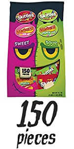SKITTLES & STARBURST Sweet & Sour Halloween Candy Fun Size Variety Mix