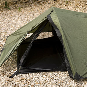 Designed with a two pole support system that forms a hooped shelter
