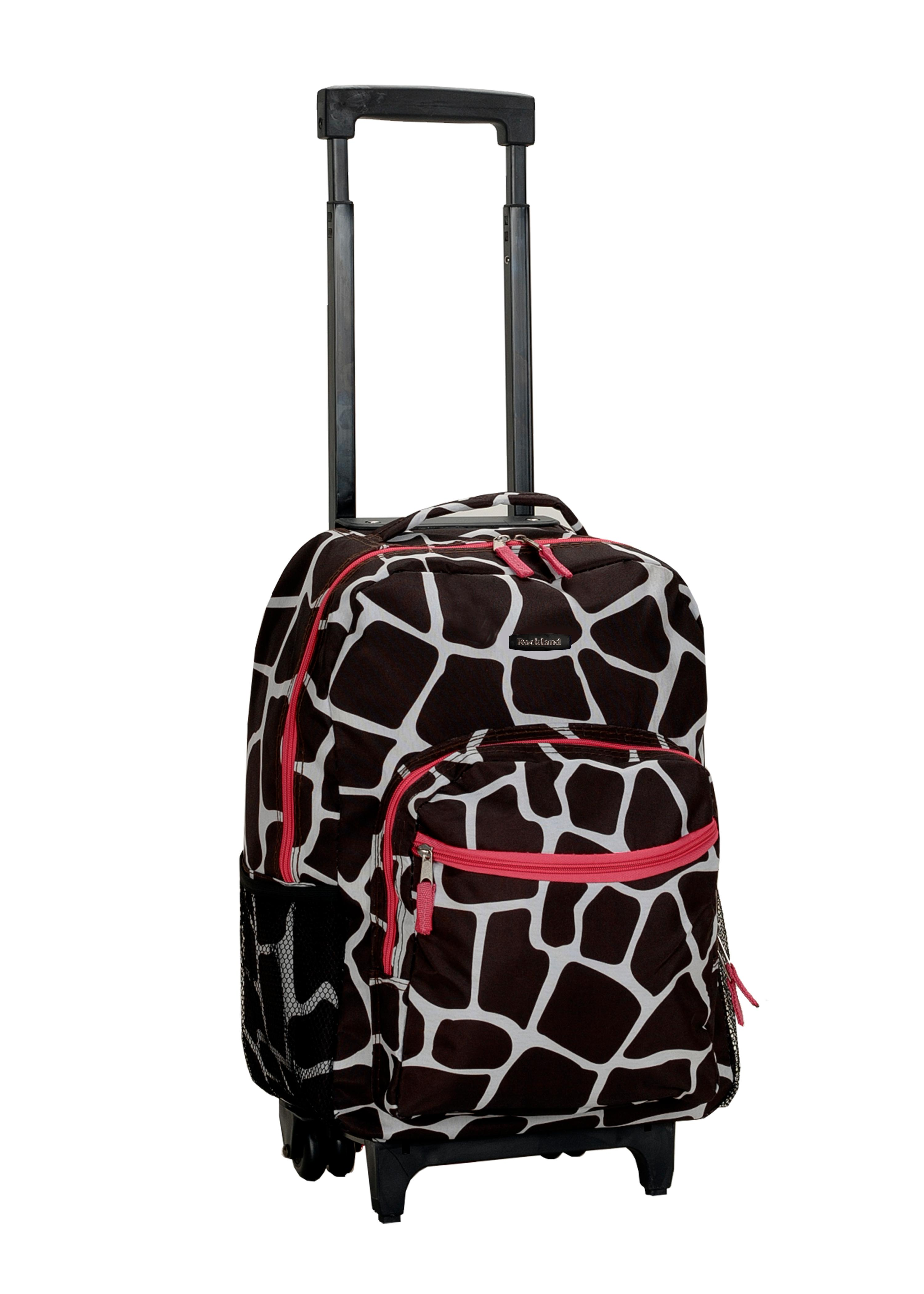 Buy Rolling Make Up Artist Bag With Seat: Buy Rockland Luggage 17 Inch Rolling Backpack Pink Dot One