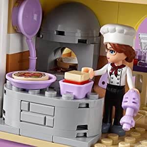 LEGO Friends Heartlake City Restaurant 41379 Restaurant Playset with Mini Dolls and Toy Scooter for Pretend Play, Cool Building Kit Includes Toy ...