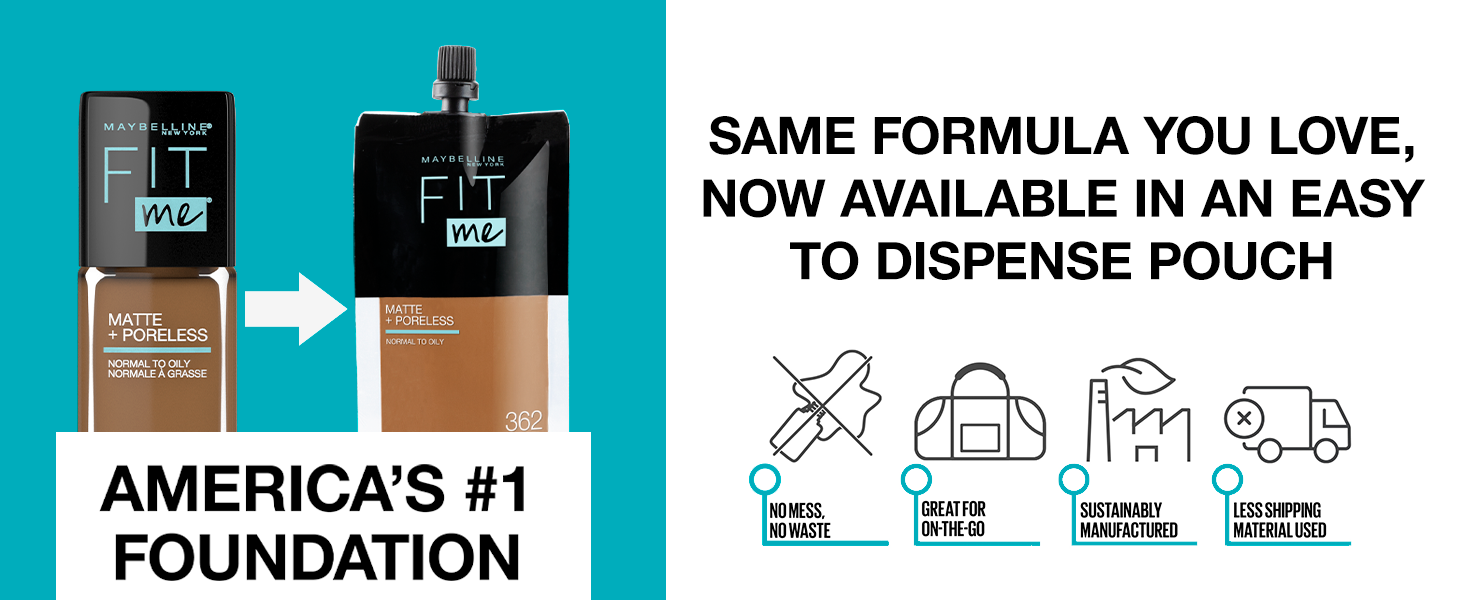 travel size foundation, fit me foundation, foundation for oily skin, matte finish foundation