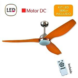 Interfan Ventilador de techo motor Dc, typhoon 3, Silencioso, 24W ...