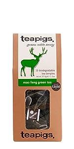 teapigs tea, mao feng green tea, mao feng, green tea, whole leaf