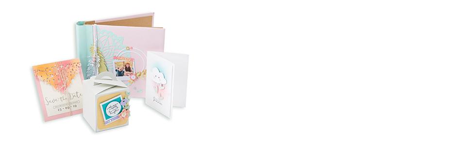 Sizzix Thinlits Troquel Paquete de tarjeta de regalo: Amazon ...