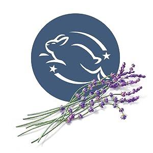 Anti-cruelty leaping bunny symbol