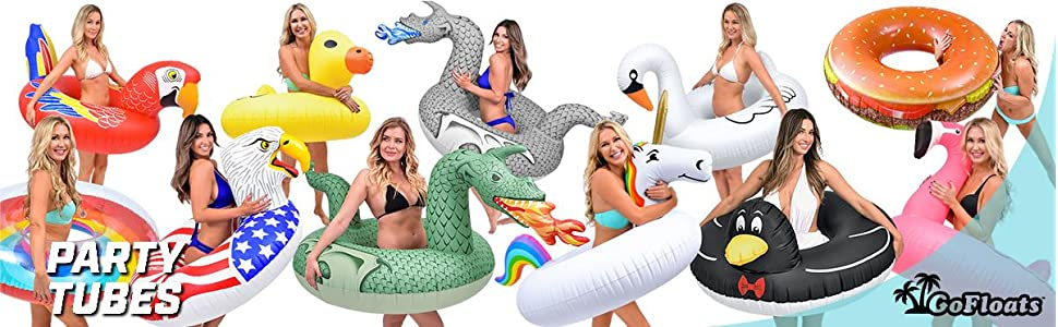 Large Unicorn Inflatable Raft Floatie RiverPool Float Ring Swimming Summer