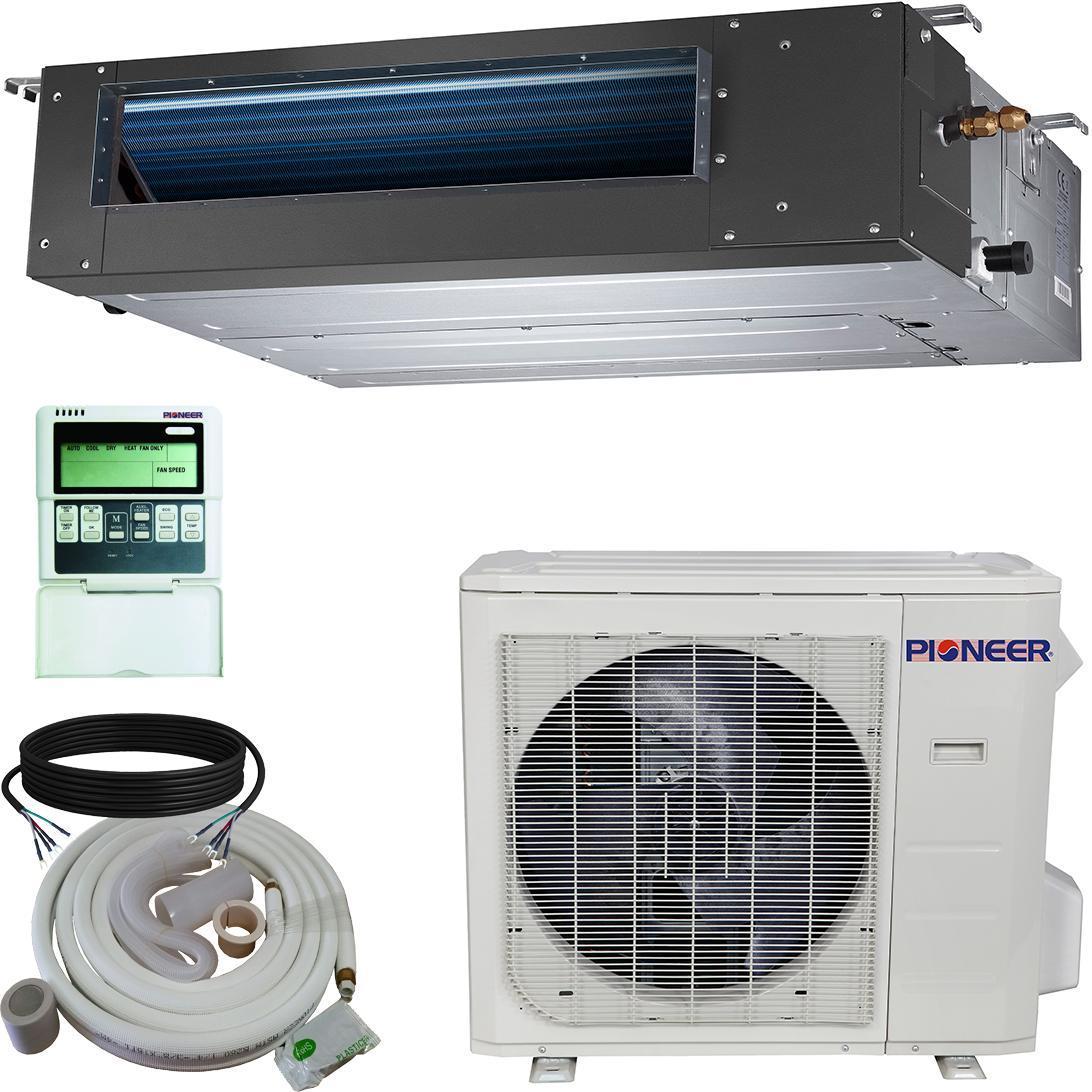 pioneer air conditioner inverter split heat pump 36 000 btu 208 230 v home. Black Bedroom Furniture Sets. Home Design Ideas