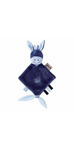 Azul//Beige//Blanco Nattou Funda para cambiador del burro Alex Alex y Bibou 88 x 78 cm