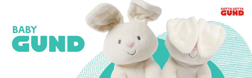baby gund flora bunny rabbit plush stuffed animal gund peekaboo gotta getta gund