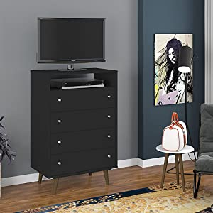 Amazon Com Manhattan Comfort 209bmc8 Liberty Modern 4 Drawer
