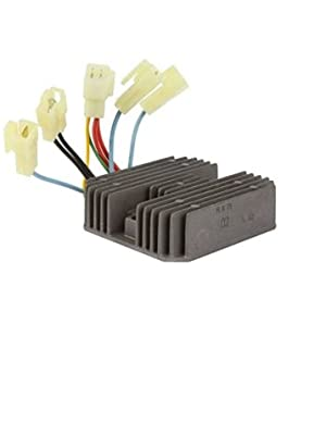 ANGLEWIDE Voltage Regulator Rectifier Regulator Rectifier Fit for 1997-2002 2004 Kawasaki Mule 550