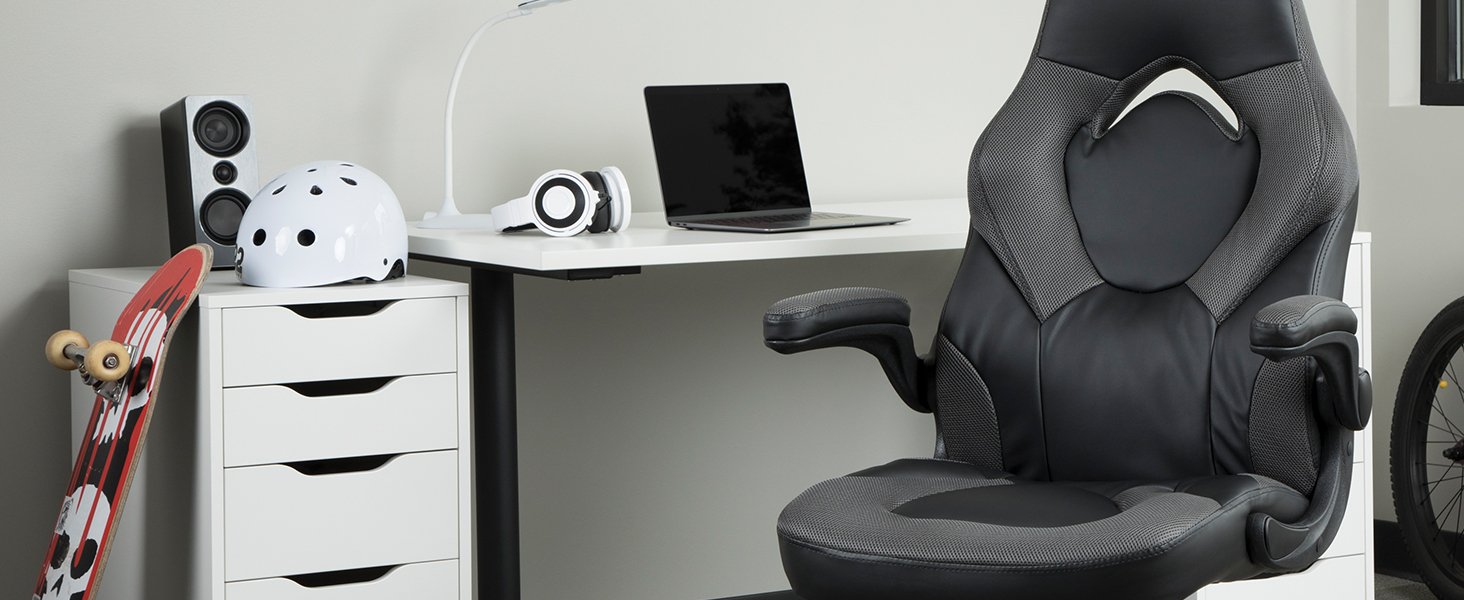 grey gaming chair