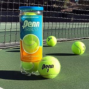 tribute balls; penn tennis balls; tennis balls