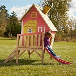 Swing n slide hide and slide play house toys for Childrens playhouse with slide and swing
