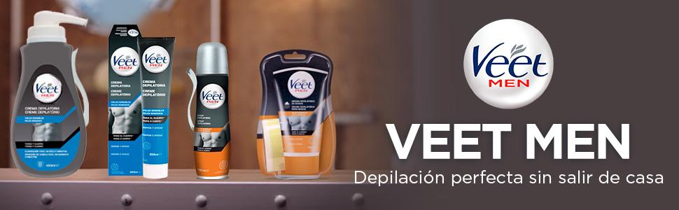 Veet for Men Crema Depilatoria Corporal para Hombre, Piel Normal ...