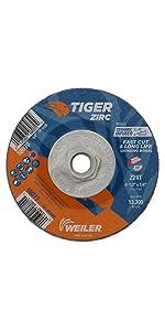 Weiler Tiger Zirc Type 27 Grinding Wheel