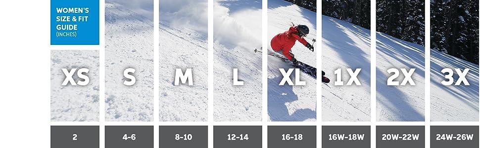 Women's ski pants sizing