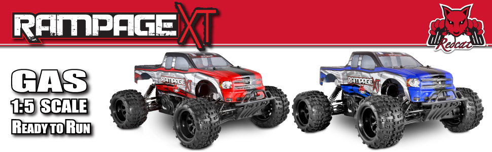 Rampage XT 1/5 Scale Gas Monster Truck Ready to Run FAst Hobby Grade