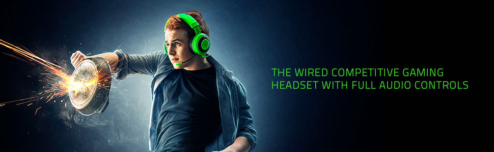 Razer Kraken Tournament Edition: THX Spatial Audio - Full Audio Control -  Cooling Gel-Infused Ear Cushions - Gaming Headset Works with PC, PS4, Xbox