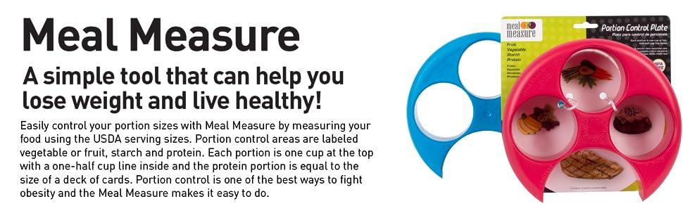 Amazon.com: Meal Measure Portion Control Tray │ Healthy