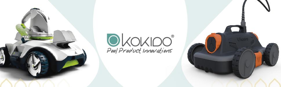 Blanco Kokido Robot Piscina Limpiafondos Manga X Plus RC32CBX
