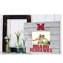Miami of Ohio Redhawks Team Spirit Slat Frame