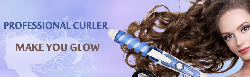 Hair Salon Spiral Curl