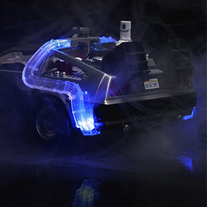 BACK TO THE FUTURE 2 1//24 JADA 31468 DELOREAN TIME MACHINE W//LIGHT FLYING VER