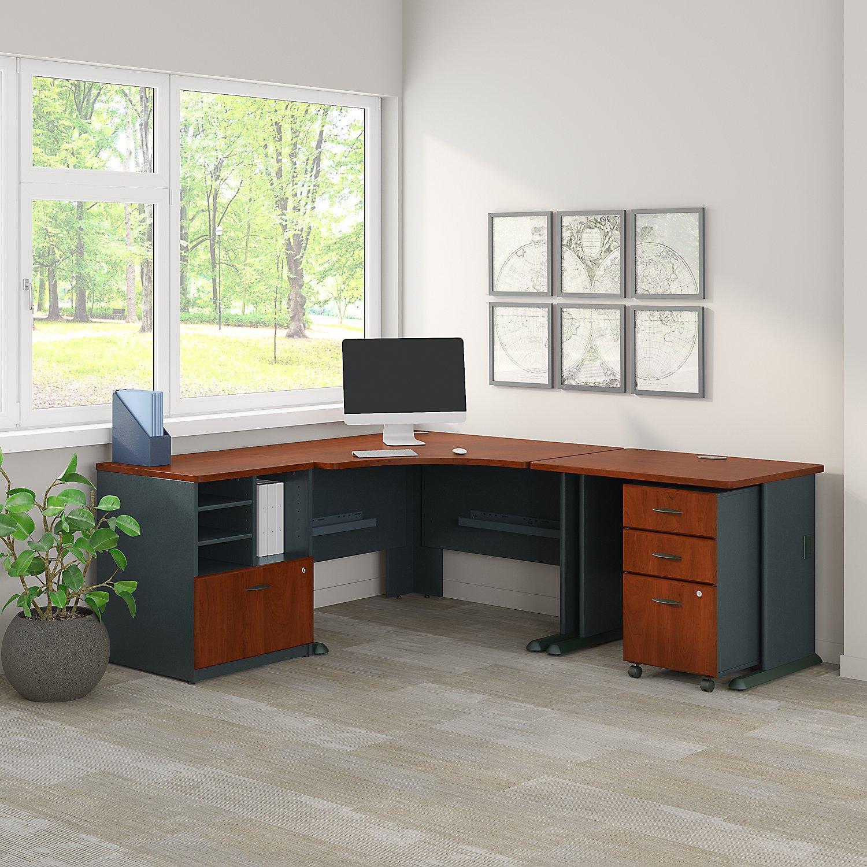 Amazon Com Bush Business Furniture Series A 48w Corner Desk With