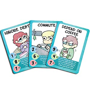 adulting card game webcomic cyanide & happiness sara scribbles owlturd unicorn exploding kittens