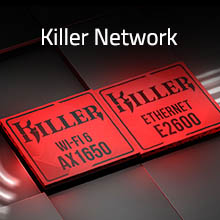 Killer Wifi; Wifi 6; AX1650; Killer ethernet; ethernet E2600