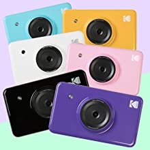 6 colors of kodak instant camera and printer