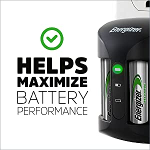 Helps maximize battery performance, Battery life, Long lasting charge, Recharge