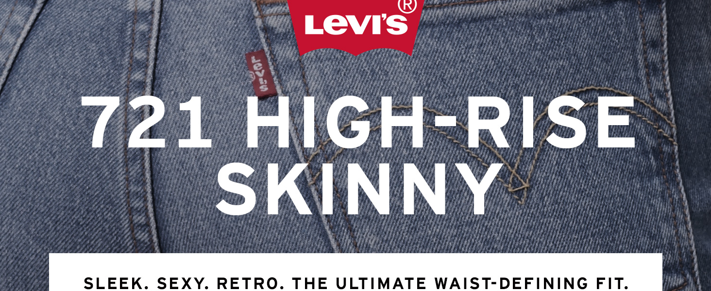 Womens Levis 721 High Rise Skinny Jean