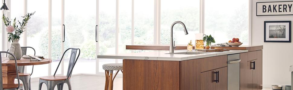 Moen 7864SRS Sleek One-Handle High Arc Pulldown Kitchen