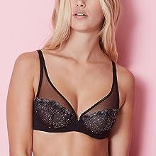 Simone Perele,12X319, Delice Plunge bra, PLunge bra, full coverage bra, Simone Perele bra