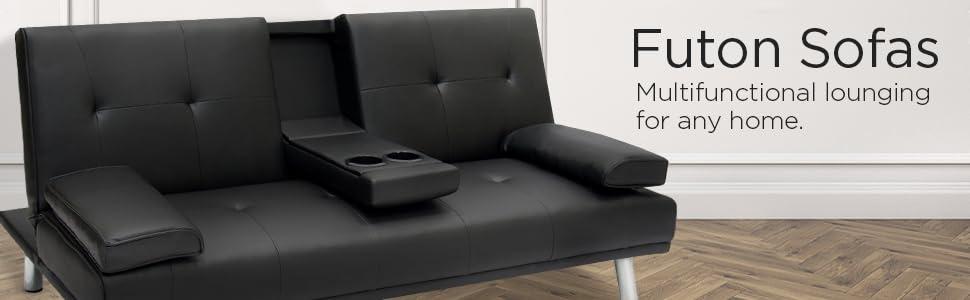 Amazoncom Best Choice Products Modern Entertainment Futon Sofa