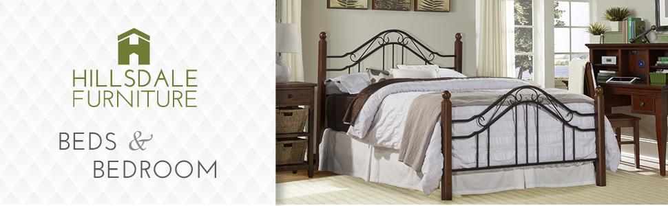 Amazon.com: Hillsdale Furniture 1010BQR Madison Bed Set with Rails ...