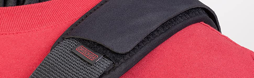 Add padded comfort and secure grip to any strap