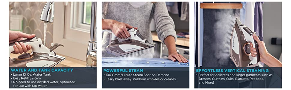 Rowenta, Focus, DW5080, Stainless Steel, Precision, Made in Germany, Irons, Steam Irons, Steamer