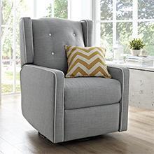 Baby-Relax-Mikayla-Swivel-Gliding-Recliner-Gray-Linen-Upholstery-Nursery-Room