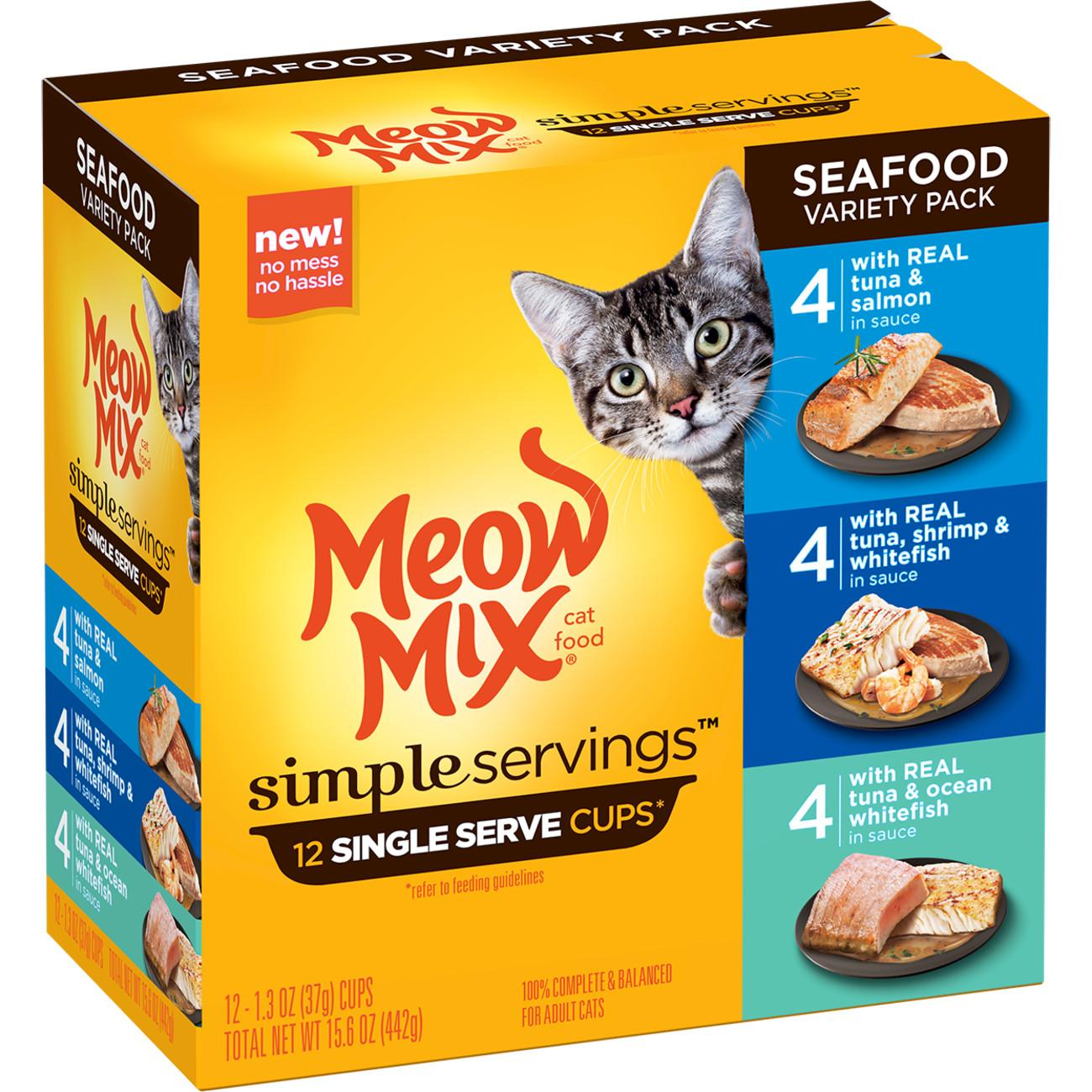 Meow Mix Simple Servings Wet Cat Food Nutrition