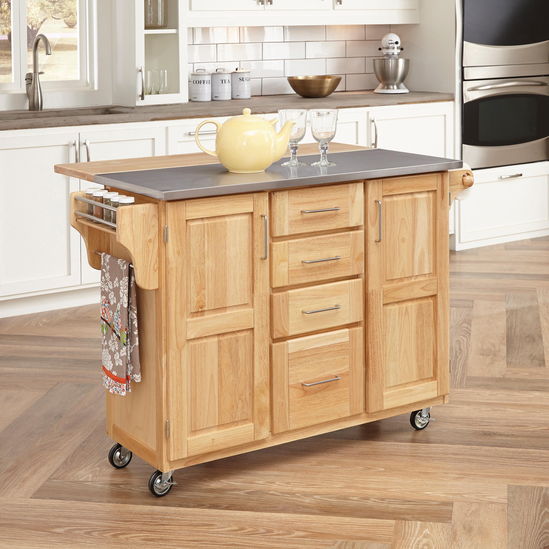 amazon com home styles 5086 95 stainless steel top kitchen cart rh amazon com Drop Leaf Breakfast Bar Breakfast Bar Furniture