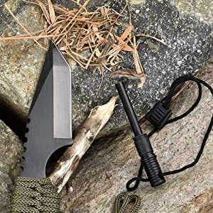 Knife and fire starter by kindling