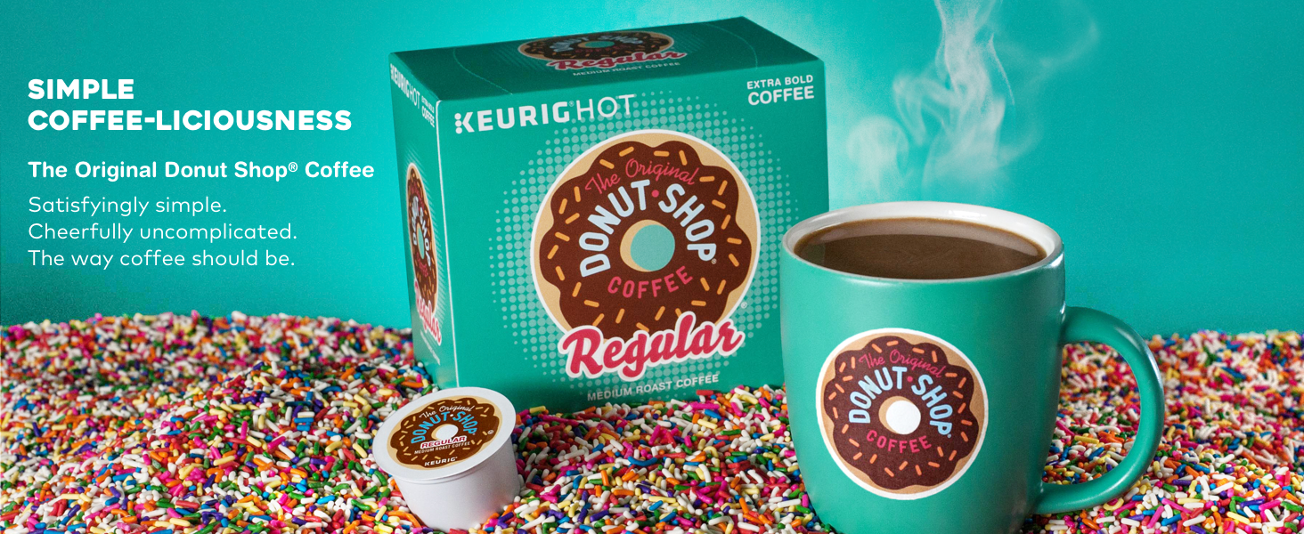 donut shop coffee, the original donut shop, kcups, k-cup pods,