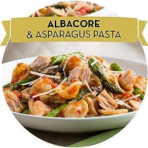 Albacore and Asparagus Pasta