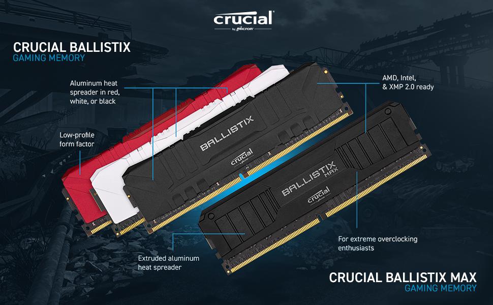 Amazon.com: Crucial Ballistix 2666 MHz DDR4 DRAM Desktop Gaming ...