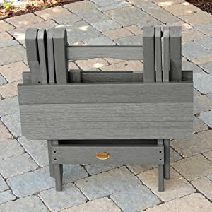 folding, portable, highwood, plastic, outdoor furniture, side table, made in the usa, america